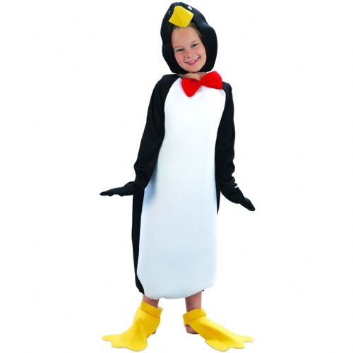 Childs Penguin Comical Costume Artic Pole Animal Sea Bird Fancy Dress Outfit